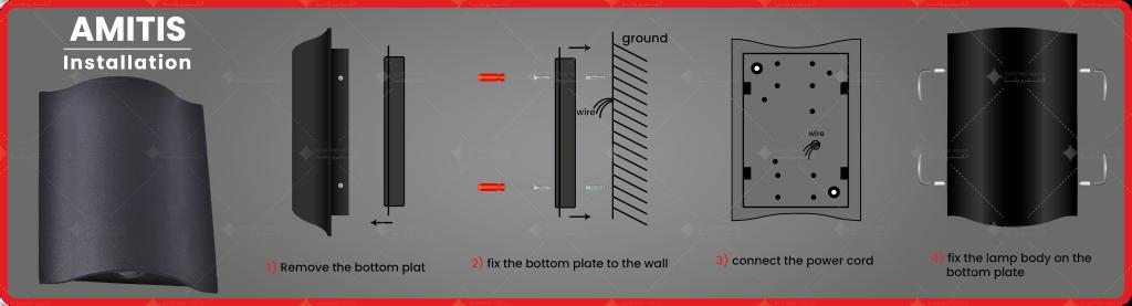 طریقه نصب و راه اندازی چراغ دکوراتیو آمیتیس 4m